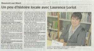 Article Beauvoir-sur-Niort du 15-04-2014